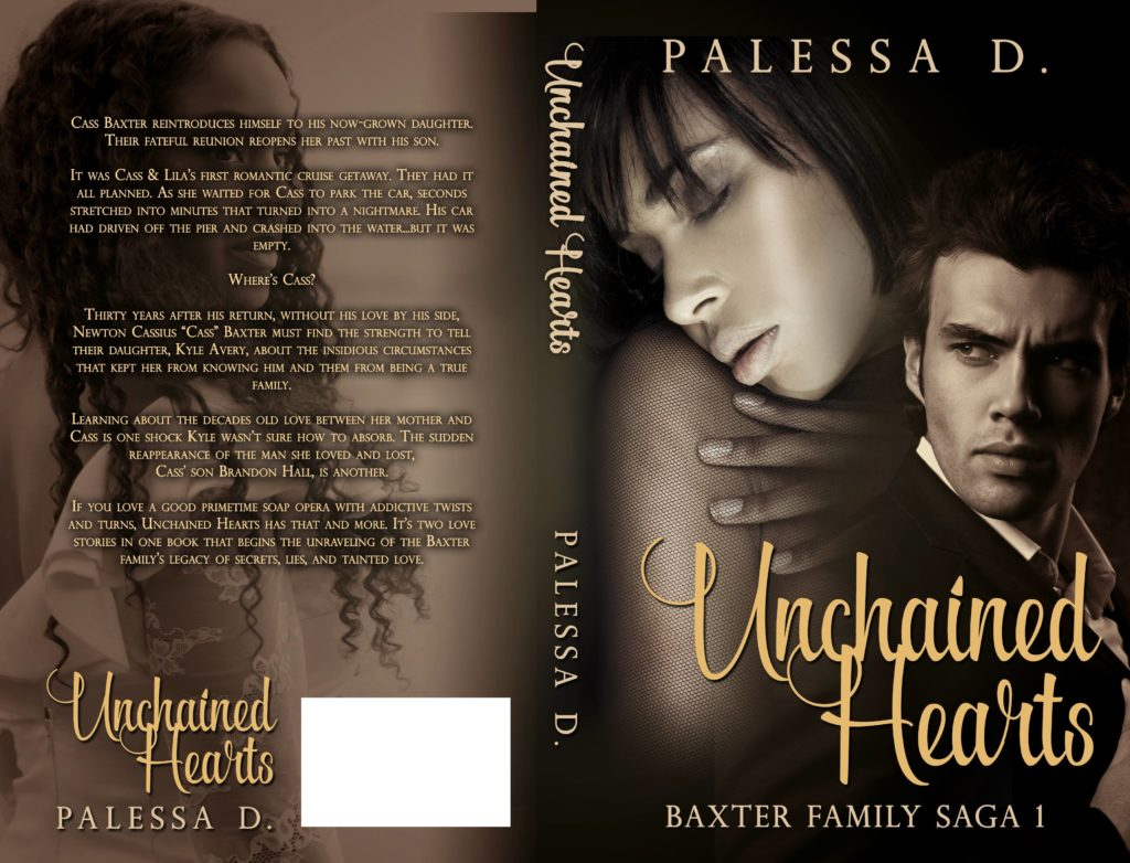 Full cover of Unchained Hearts, Baxter Family Saga 1 - AuthorPalessa.com